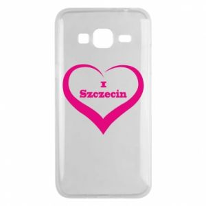 Phone case for Samsung J3 2016 I love Szczecin