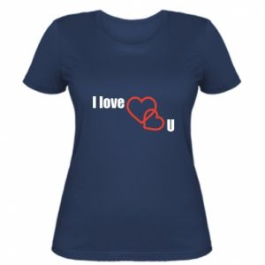 Women's t-shirt I love U