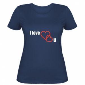 Damska koszulka I love U