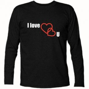 Koszulka z długim rękawem I love U - PrintSalon