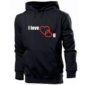 Men's hoodie I love U