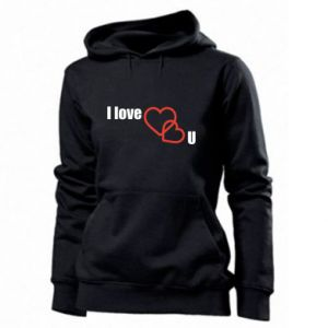 Women's hoodies I love U