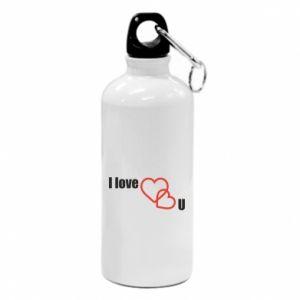 Water bottle I love U