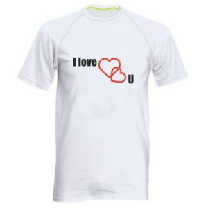 Men's sports t-shirt I love U