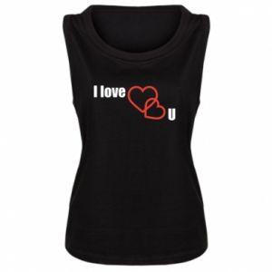 Damska koszulka I love U - PrintSalon