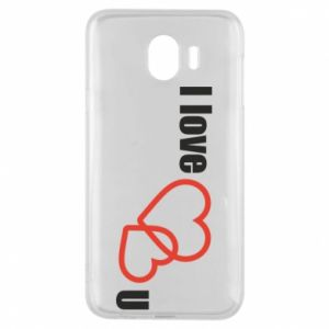 Phone case for Samsung J4 I love U