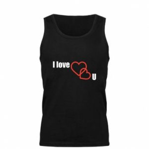 Męska koszulka I love U - PrintSalon