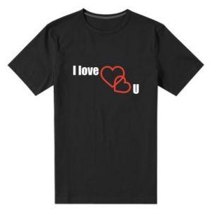 Męska premium koszulka I love U - PrintSalon