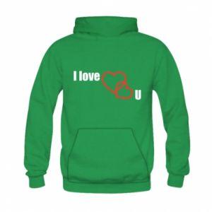 Kid's hoodie I love U