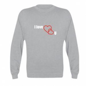 Kid's sweatshirt I love U
