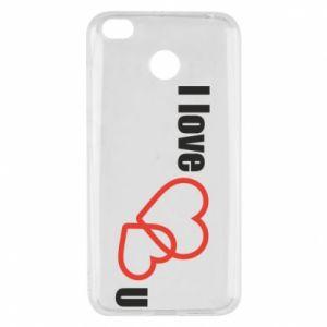 Xiaomi Redmi 4X Case I love U