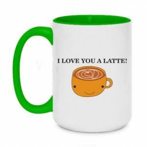 Kubek dwukolorowy 450ml I love you a latte
