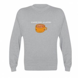 Bluza dziecięca I love you a latte