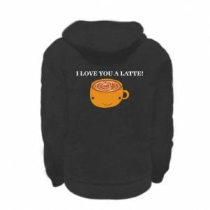 Bluza na zamek dziecięca I love you a latte