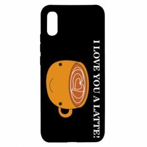 Etui na Xiaomi Redmi 9a I love you a latte