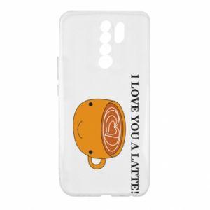 Etui na Xiaomi Redmi 9 I love you a latte