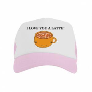 Czapka trucker dziecięca I love you a latte