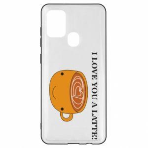 Etui na Samsung A21s I love you a latte