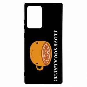 Etui na Samsung Note 20 Ultra I love you a latte