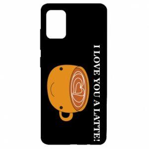 Etui na Samsung A51 I love you a latte