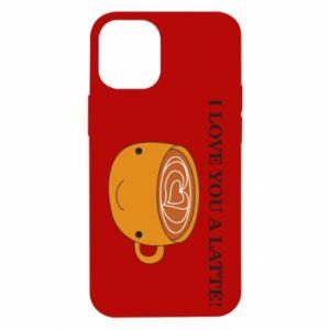 Etui na iPhone 12 Mini I love you a latte