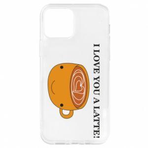 Etui na iPhone 12/12 Pro I love you a latte