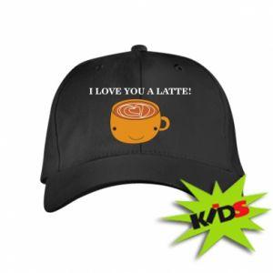 Czapeczka z daszkiem dziecięca I love you a latte