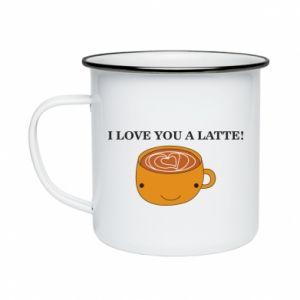 Kubek emaliowany I love you a latte