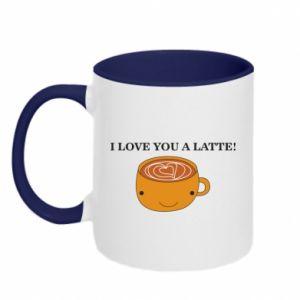 Kubek dwukolorowy I love you a latte