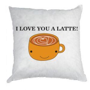 Poduszka I love you a latte