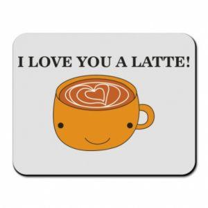 Podkładka pod mysz I love you a latte