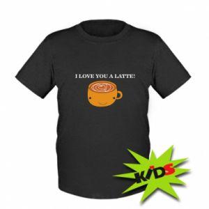 Dziecięcy T-shirt I love you a latte