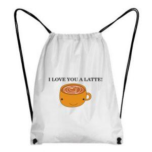 Plecak-worek I love you a latte