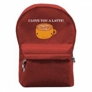Plecak z przednią kieszenią I love you a latte