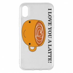 Etui na iPhone X/Xs I love you a latte