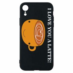 Etui na iPhone XR I love you a latte