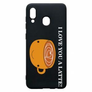 Etui na Samsung A30 I love you a latte
