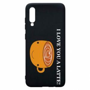 Etui na Samsung A70 I love you a latte