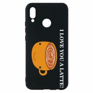 Etui na Huawei P20 Lite I love you a latte