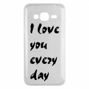 Etui na Samsung J3 2016 I love you every day