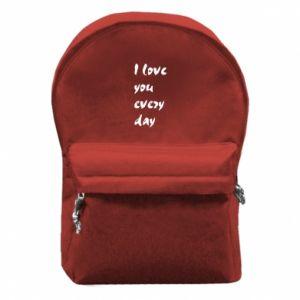 Plecak z przednią kieszenią I love you every day