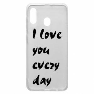 Etui na Samsung A20 I love you every day