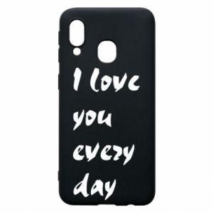Etui na Samsung A40 I love you every day