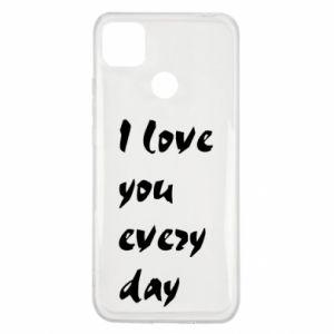 Xiaomi Redmi 9c Case I love you every day
