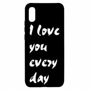 Xiaomi Redmi 9a Case I love you every day