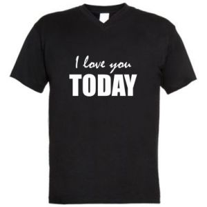 Męska koszulka V-neck I love you today