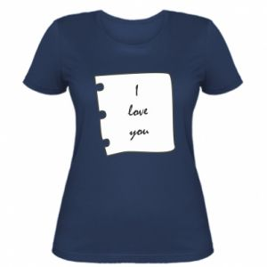 Women's t-shirt I love you