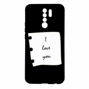 Xiaomi Redmi 9 Case I love you