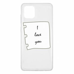 Samsung Note 10 Lite Case I love you