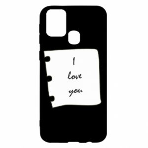 Samsung M31 Case I love you